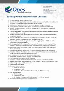 thumbnail of Building Permit Documentation Checklist