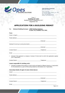 thumbnail of Form 1 – Building Permit Application Form